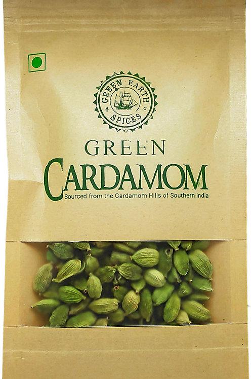 Green Cardamom (100 grams) 8 mm Grade from the Cardamom Hills of Kerala