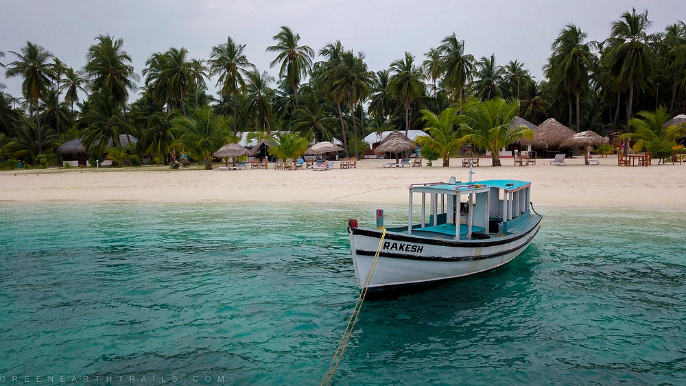 Boat at Bangaram Island Lakshadweep Islands