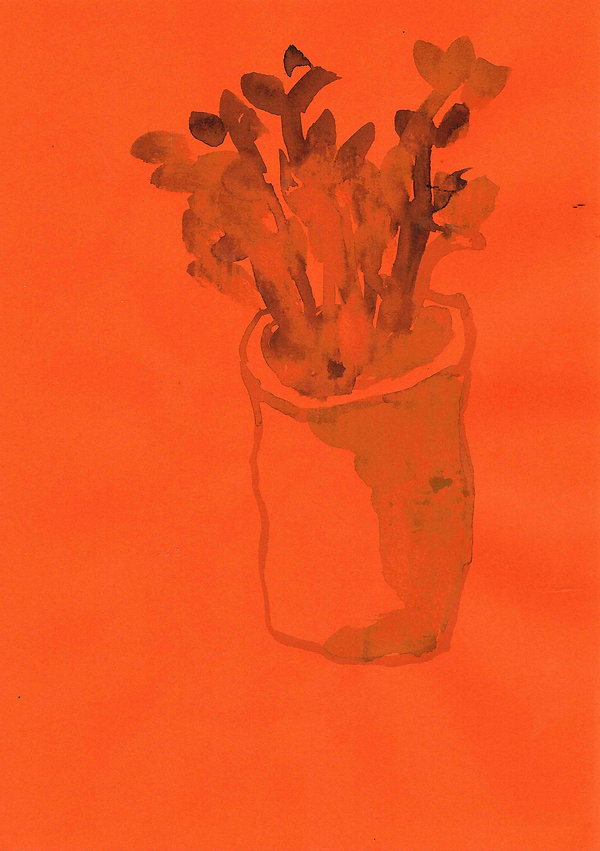 Plant that I gave my Brother, 2016, watercolor on paper, 21.0 x 29.7cm  Fergal Styles
