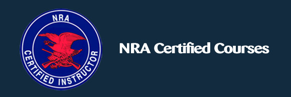 Logo of NRA Seal and the words NRA Certified Courses