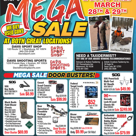 "Davis ""Mega Sale"" March 28 & 29"
