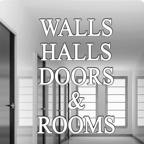 Wall, Halls, Doors, and Rooms