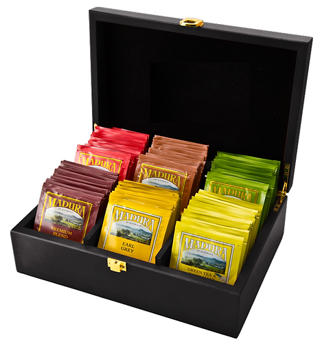 Wooden Tea Chest and Envelope String & Tag Set