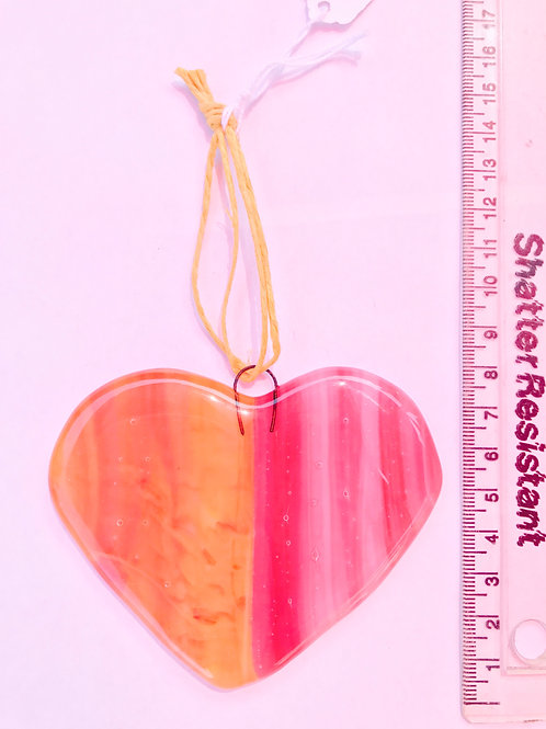Pink and gold streaky heart