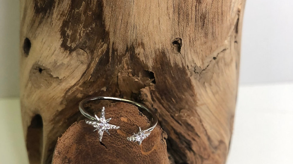 Girls Crew Haley's Comet Adjustable Ring (silver)