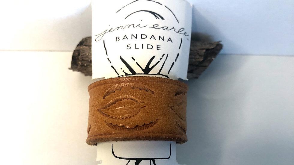 Jenni Earle Vintage Leather Bandana Slide no Stud