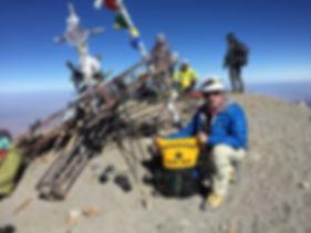 Rich on the summit of Pico de Orizaba (18,700ft)