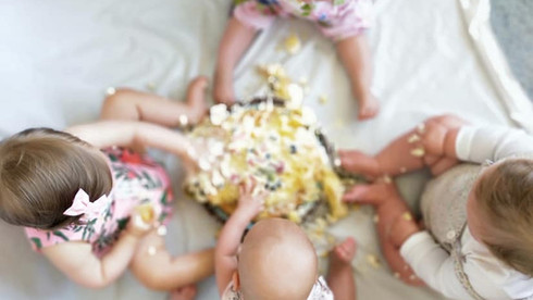 Twins and multiples cake smash