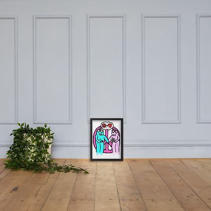 Peacus + Lovus - Framed matte paper poster