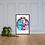 Thumbnail: Peacus + Lovus - Framed matte paper poster