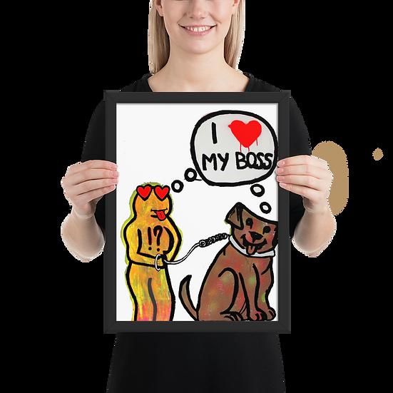 Dogus - Framed matte paper poster
