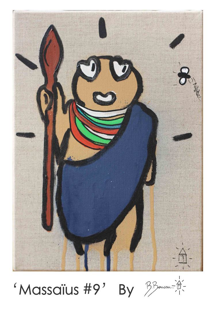 B. Boucau - Massaïus #9 (2019 - 33x24cm)