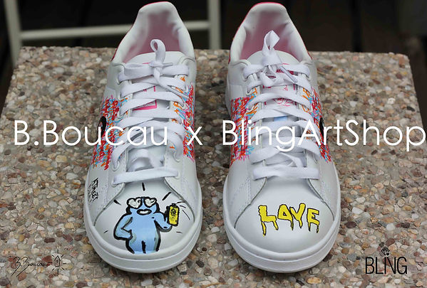 B.Boucau x Bling Art Shop Adidas Custom