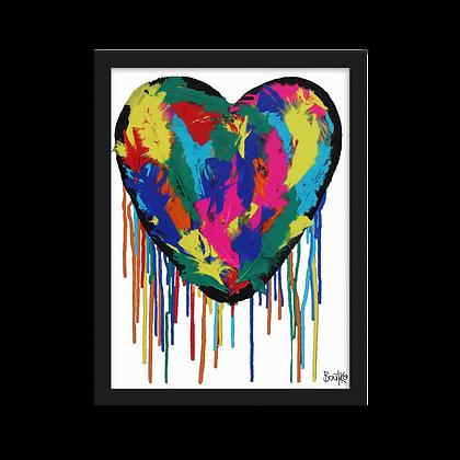Heart Plumus - Framed matte paper poster