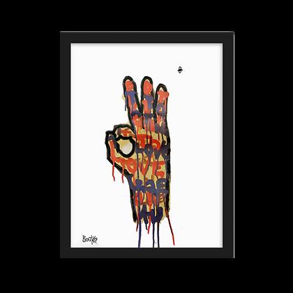 Feelus #4 - Framed matte paper poster