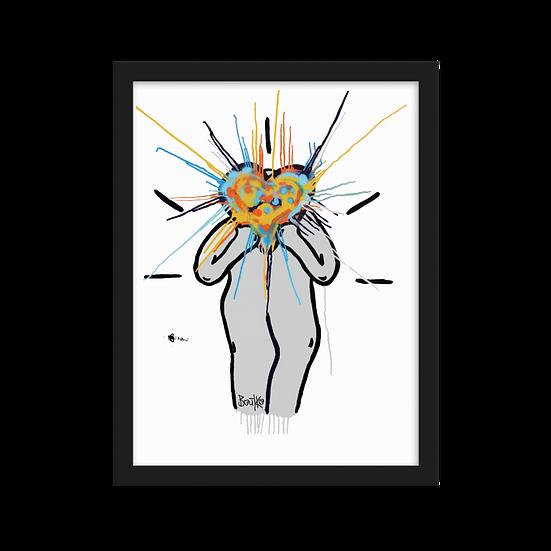 Splash Lovus #1 - Framed matte paper poster