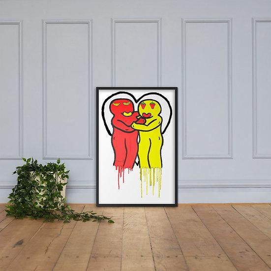 Hugus - Framed matte paper poster