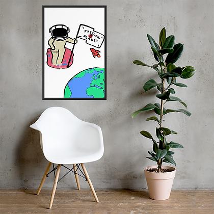 Planetus - Framed matte paper poster