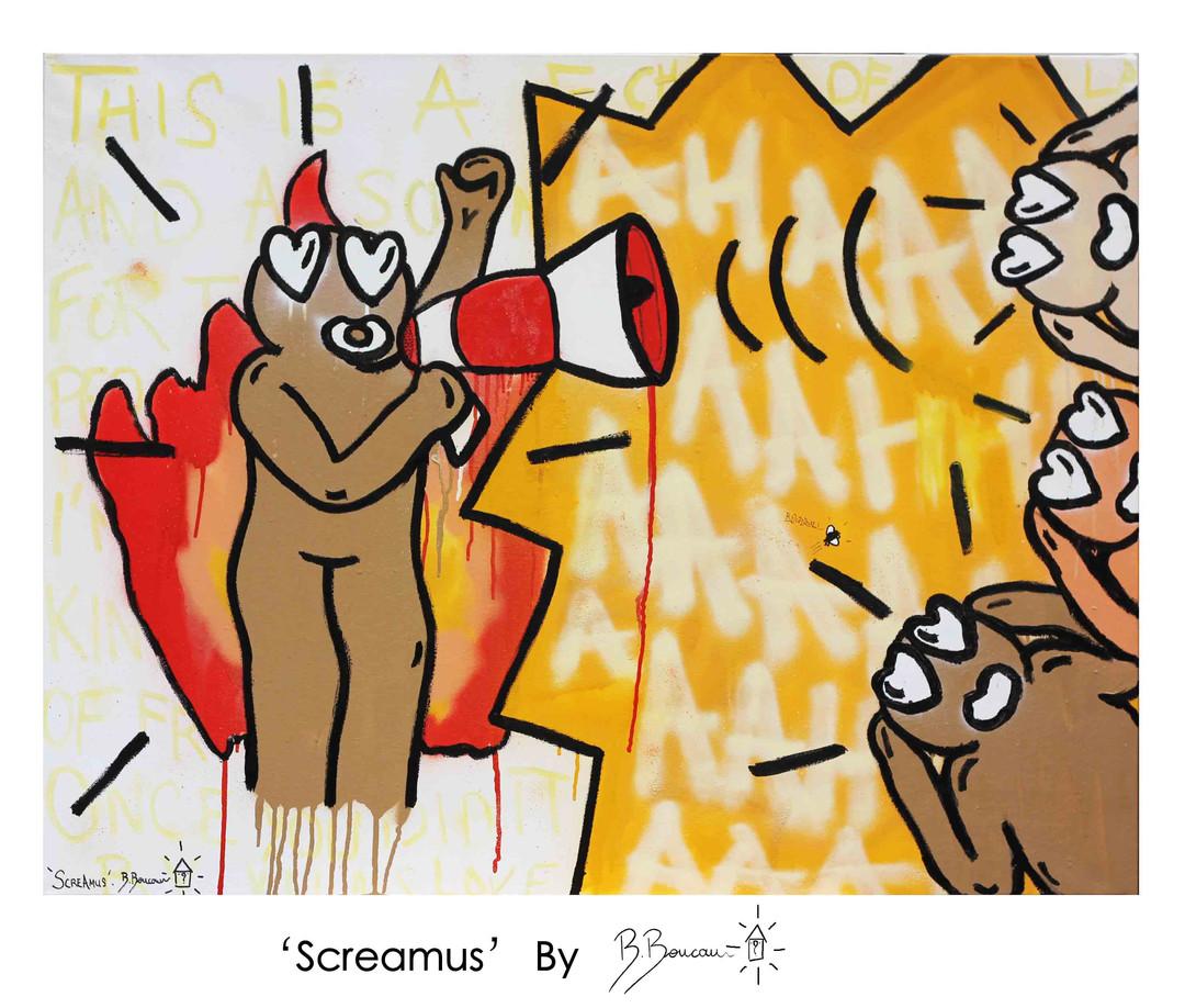 B. Boucau - Screamus (2019 - 89x116cm).j