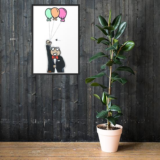 Balloonitus #1 - Framed matte paper poster