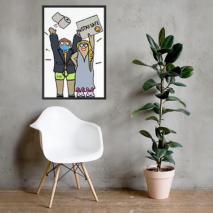 Coronus - Framed matte paper poster