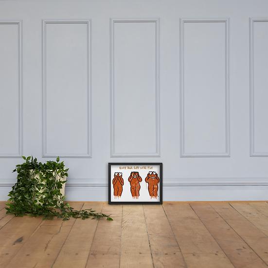 Monkus - Framed matte paper poster