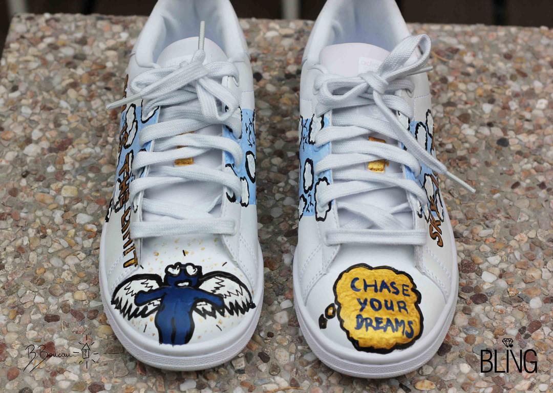 B.Boucau x Bling Art Shop Adidas Custom