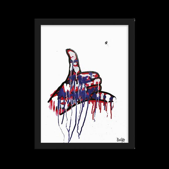 Feelus #7 - Framed matte paper poster