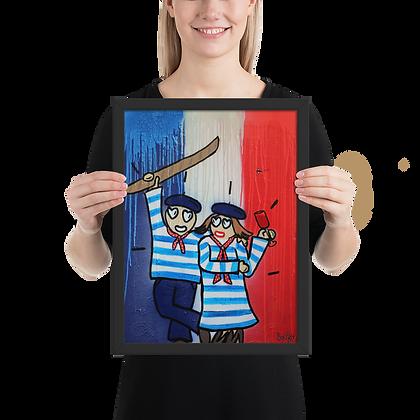 Frenchus #4 - Framed matte paper poster