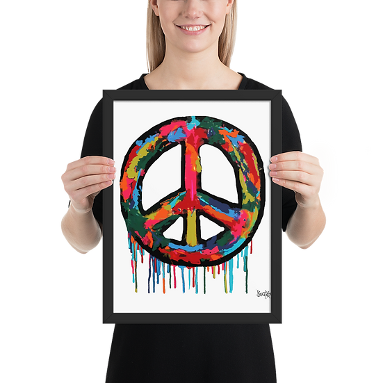 Peace Plumus - Framed matte paper poster
