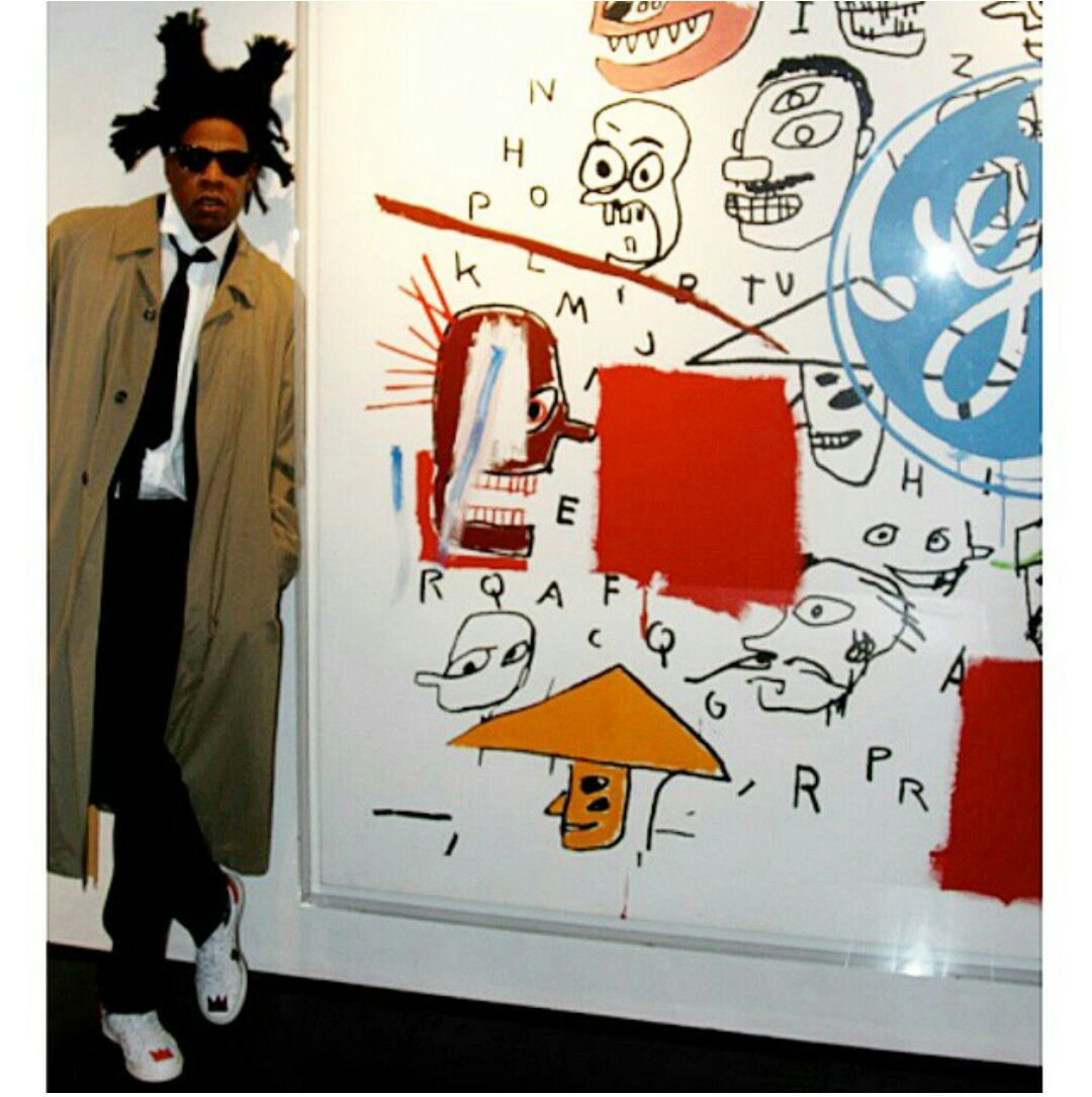 Jay Z Wearing The BBP Basquiat Shoes