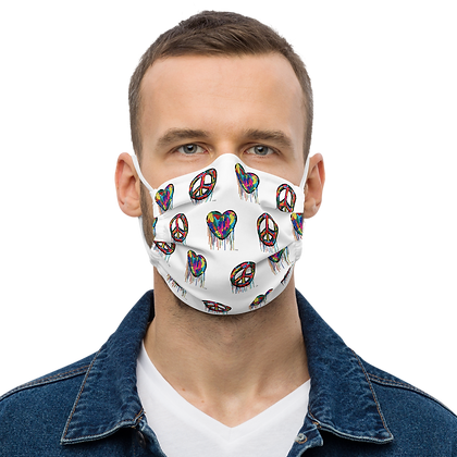 Peace And Love - Premium face mask