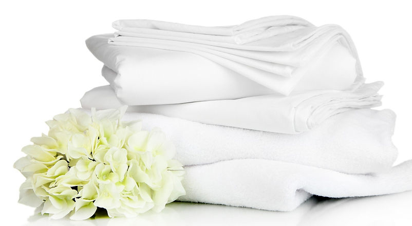 Stack-of-clean-bedding-sheets-and-towels