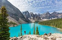 Beautiful Moraine lake in Banff National