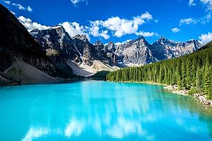 Moraine lake in Banff National Park, Alb