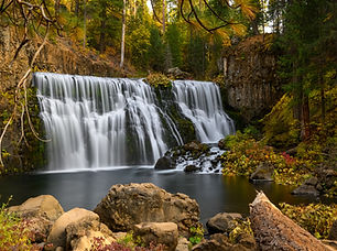 Upper Fall on McCloud River in the fores