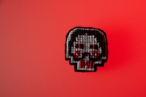 Jigsaw Cross Stitch Pin