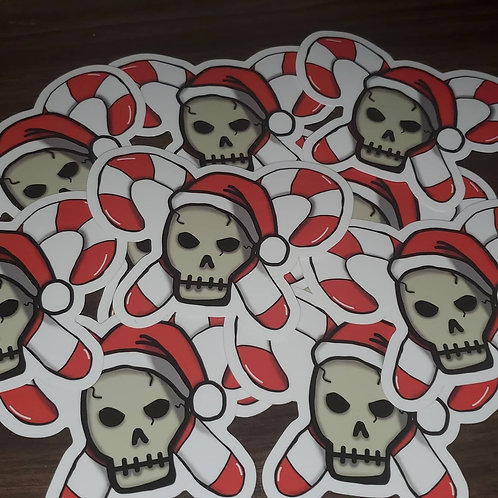 Decayed Christmas Sticker