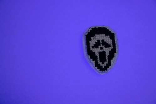 Ghostface Cross Stitch Pin