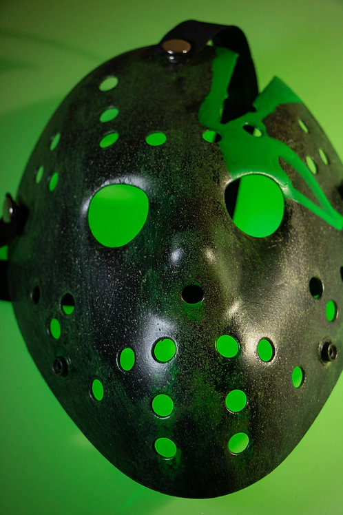 Toxic Waste - Hand Painted Mask
