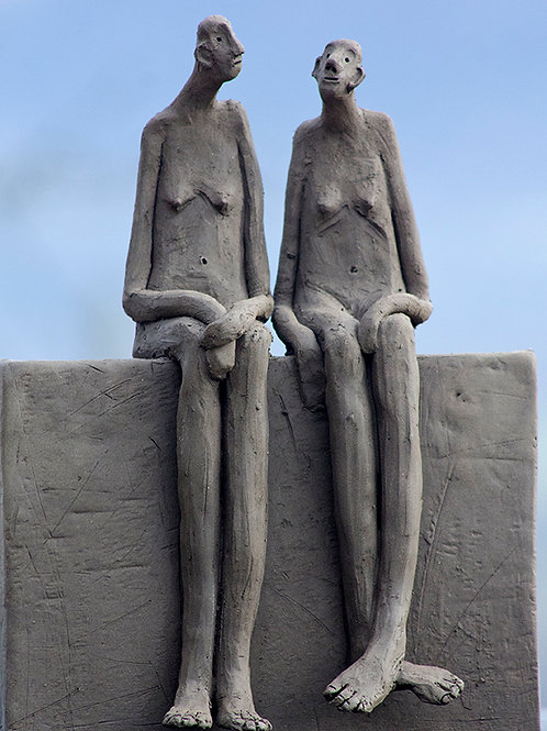 Banc public - 2 femmes