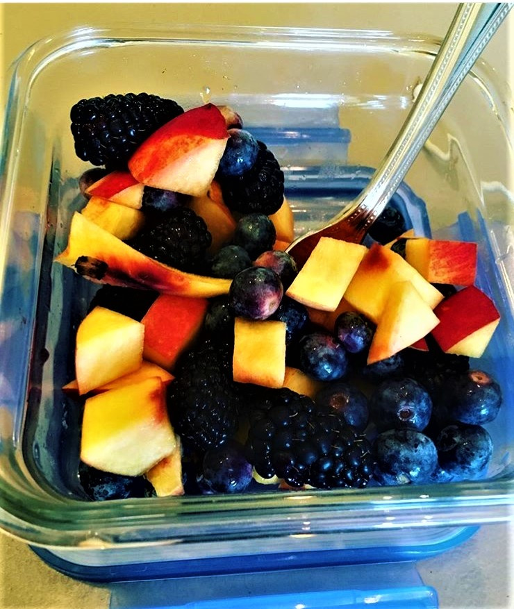 Healthy Bowl of Fruit for Breakfast
