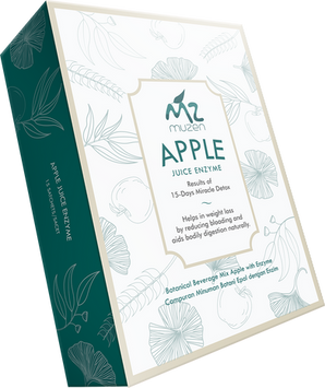 muzen apple juice enzyme with gold frame