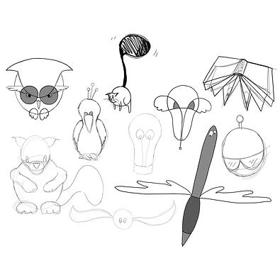 Schoolschrijvers_Character Design_Schets