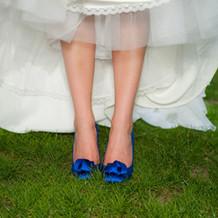 Chaussures de mariage bleu