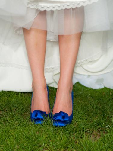 Les souliers bleu de la mariée