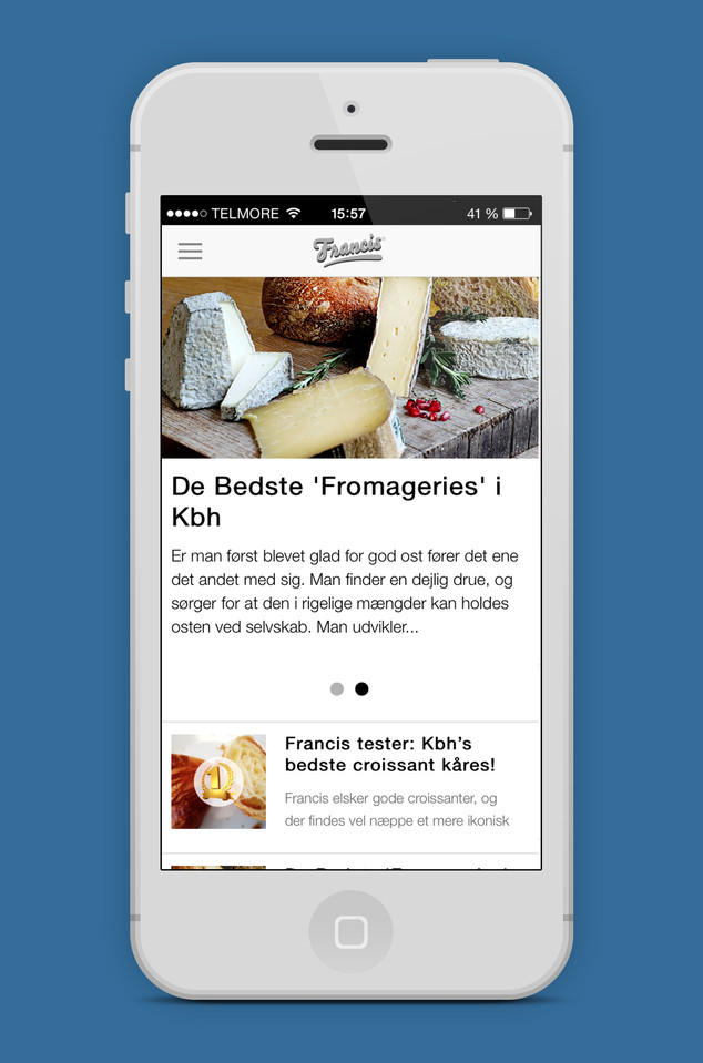 Francis App, News page