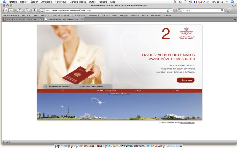 Royal Air Maroc, Business Class