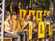 Sobotní program zahájil taneční orchestr ZUŠ Strakonice L Band pod vedením M. Lukeše.