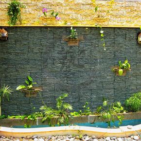 葡萄園-流水魚池